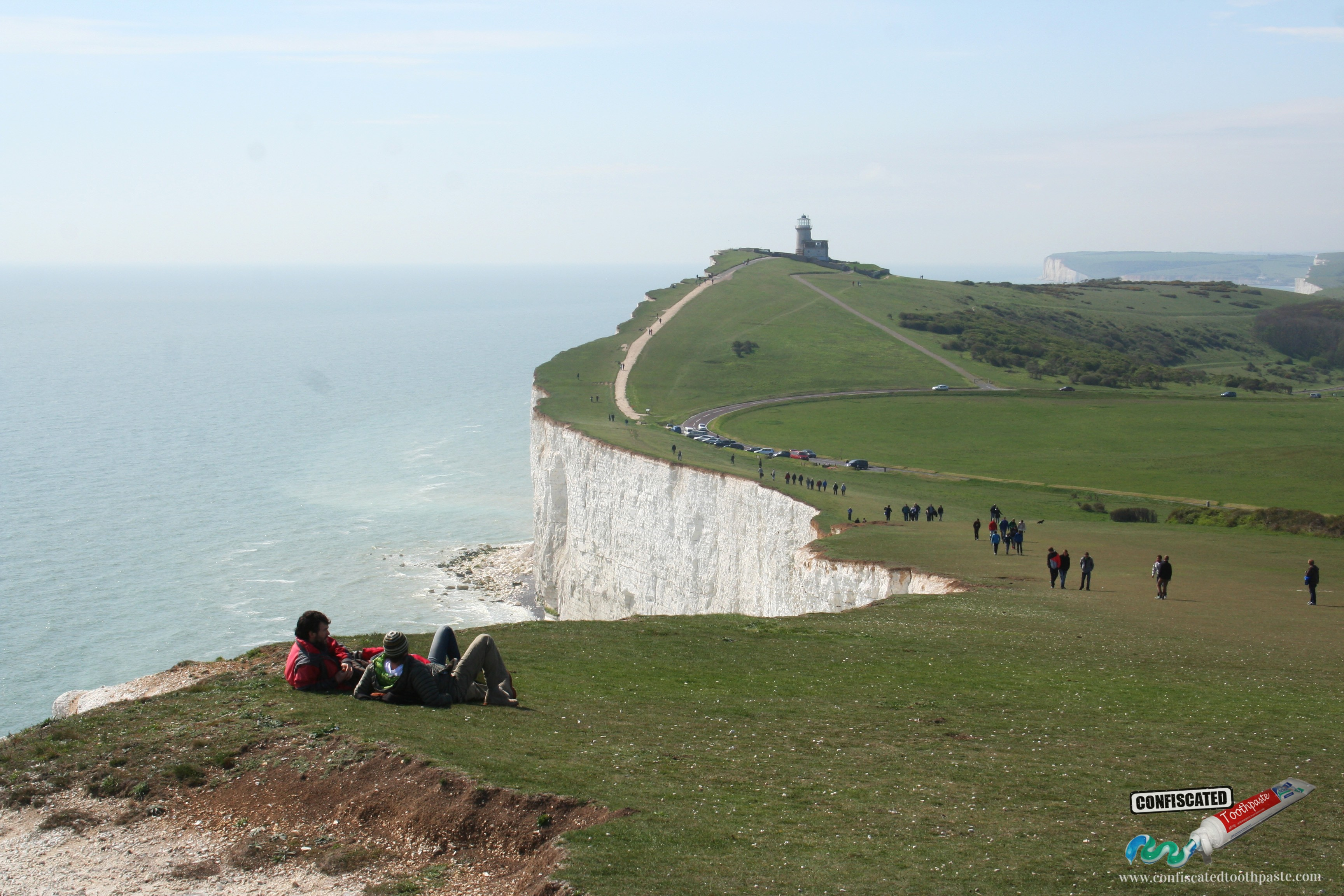 Chalk cliffs at Beachy Head, near Eastbourne in the south of England, United Kingdom