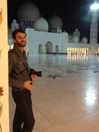 Matt at Grand Zayed Mosque, Abu Dhabi