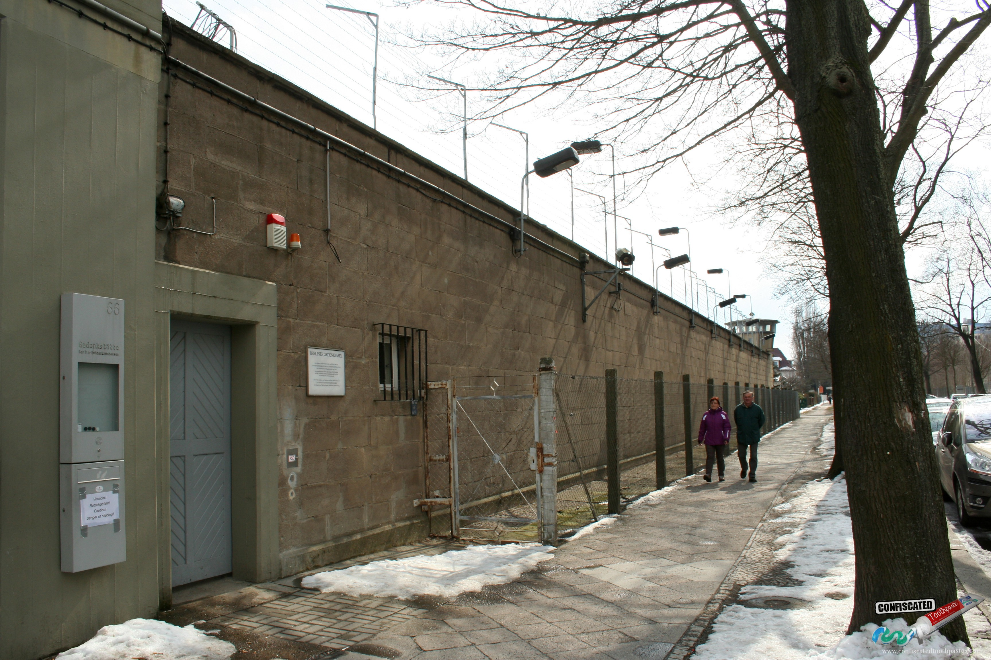 Outside the Stasi prison in the former Hohenschönhausen restricted area, Berlin
