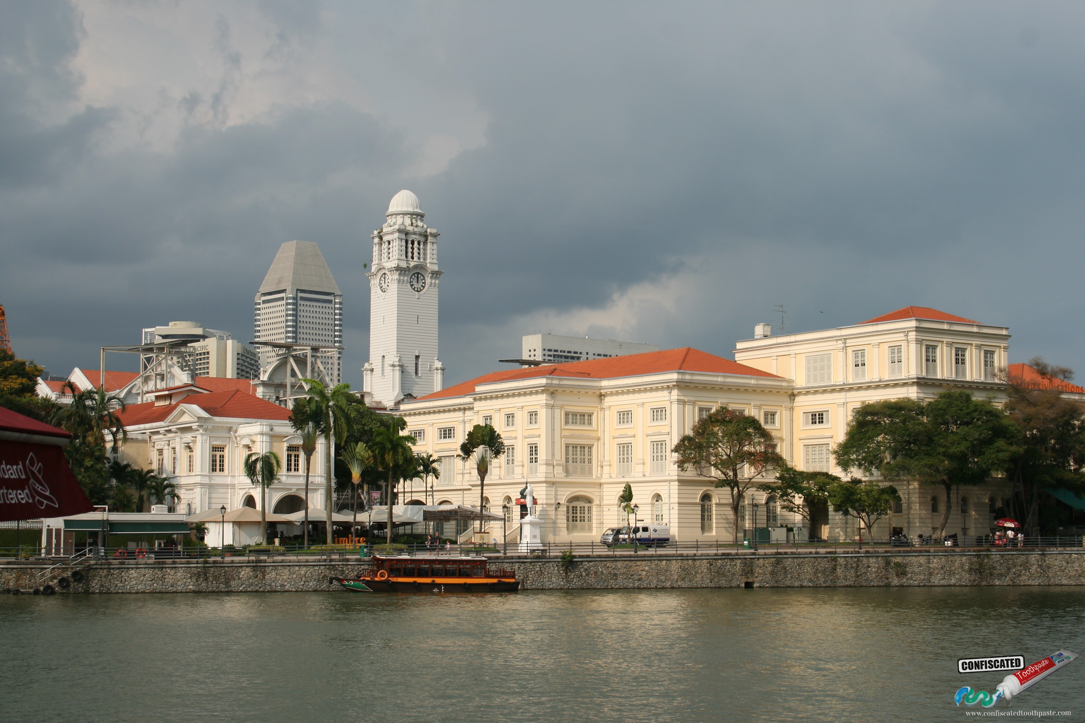 Colonial Singapore. View of the Arts House and Asian History Museum