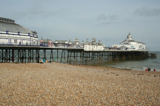 Eastbourne Pier is an olde world mix of tea houses, food stalls and amusements
