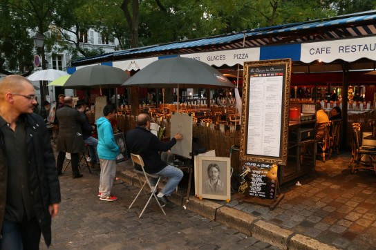 Artists ply their trade at the Place du Tetre