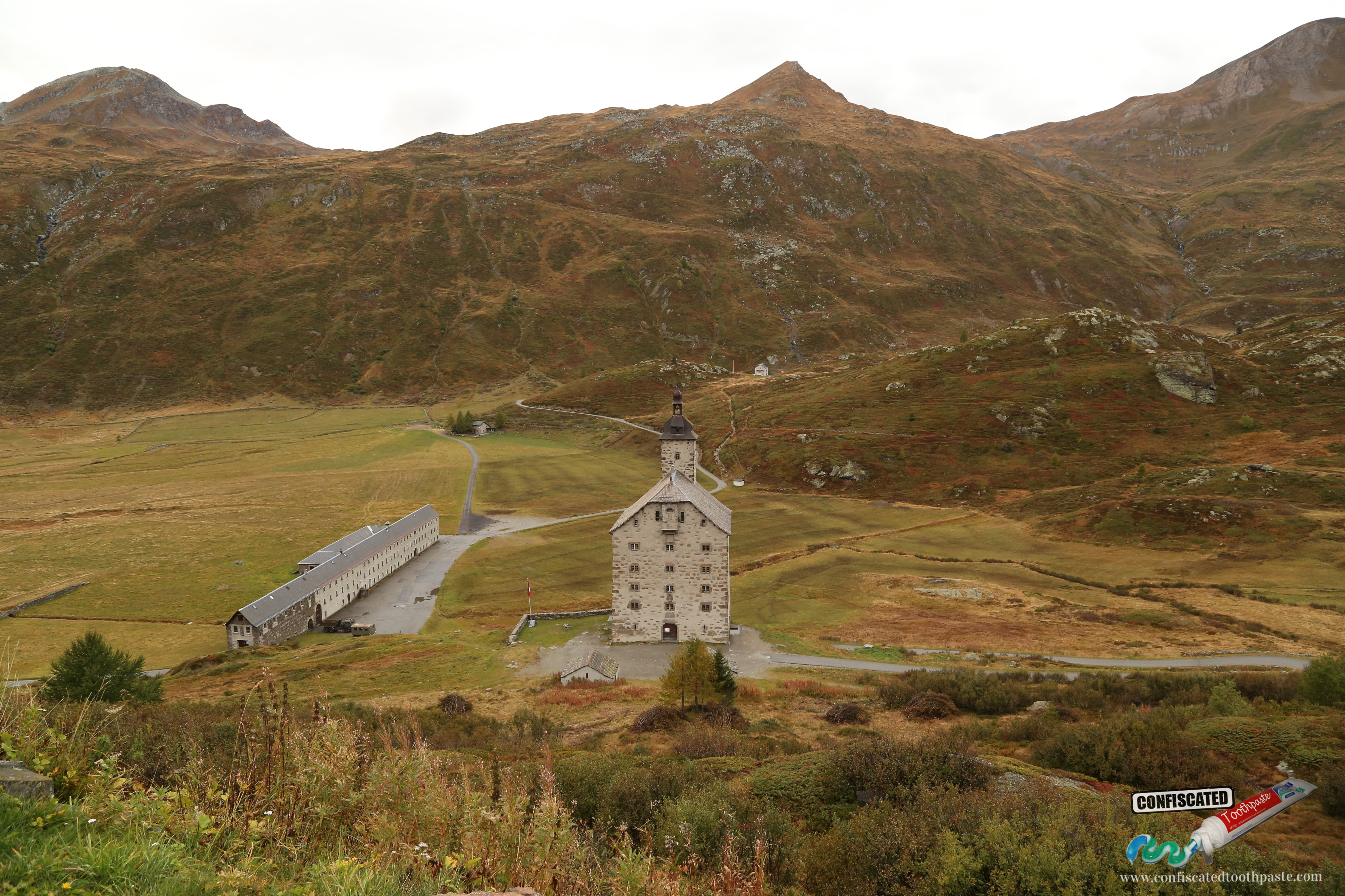 A church at the Simplon Pass in the Swiss Alps