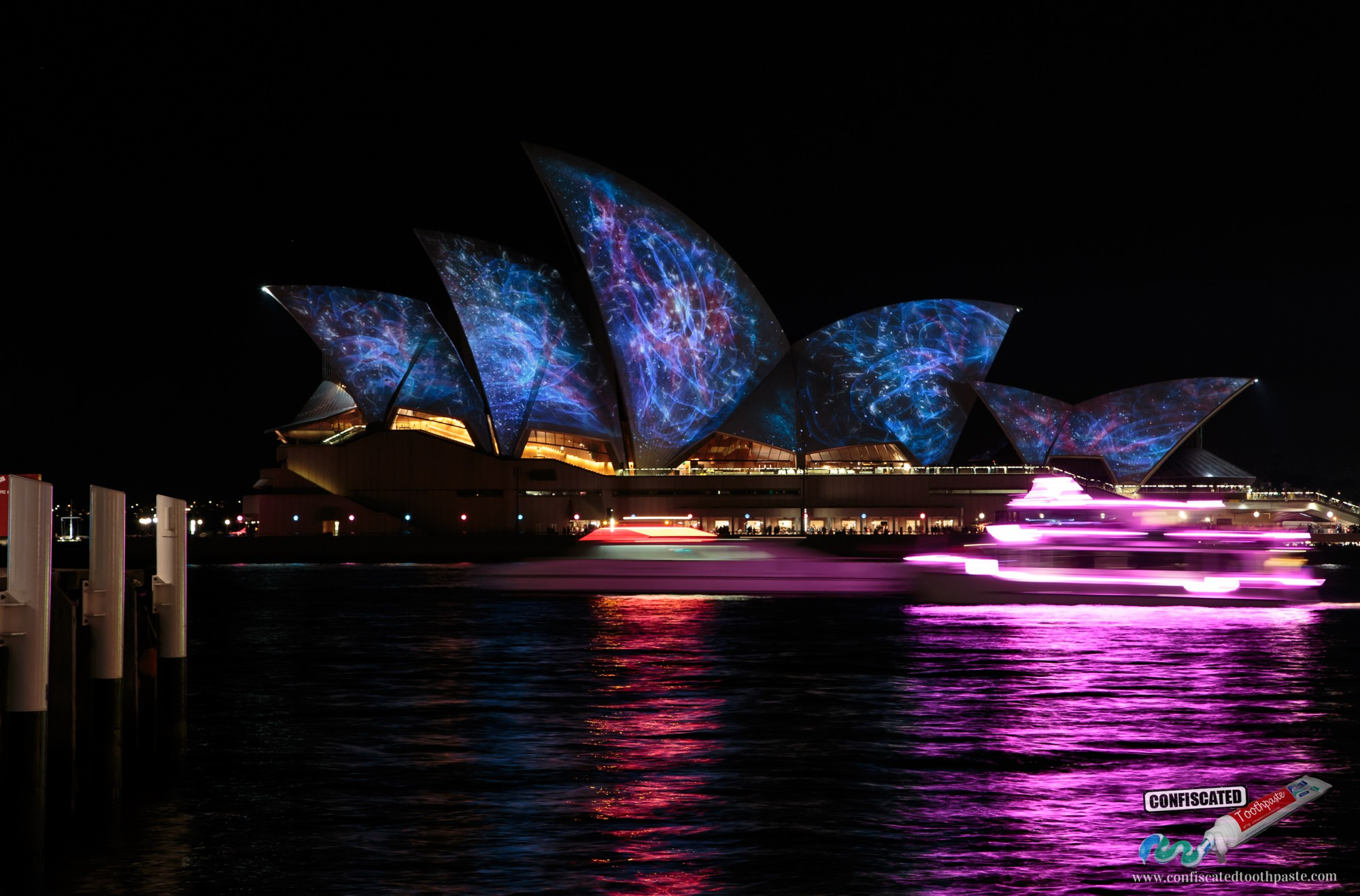 Sydney Opera House with Universe Projection during Vivid Festival 2014