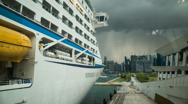 Arrival in Singapore amid tropical storms