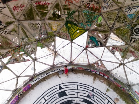 Inside the tattered lower radomes